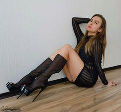 Irresistible nylon goddess